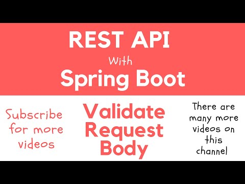 REST API with Spring Boot - Validate HTTP Request Body with Hibernate Bean Validation Constraints