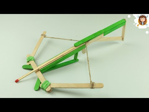 Mini Crossbow made With Popsicle Sticks