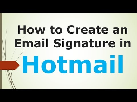 How to Create an Email Signature in Hotmail Mini Clips