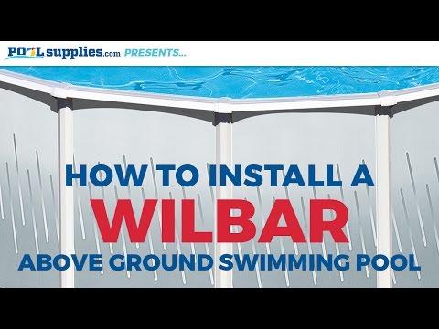 Wilbar Round Above Ground Pool Installation