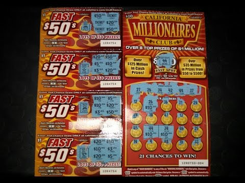 $1 Fast 50's and California Millionaires Club Scratchers!!