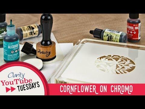 Stencilling How To - Cornflower on Chromo