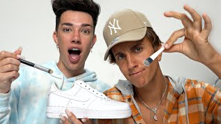 Customizing SHOES with JAMES CHARLES! 🎨👟(Giveaway)