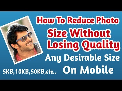 How to reduce image size in kb | Reduce image size without losing quality in mobile