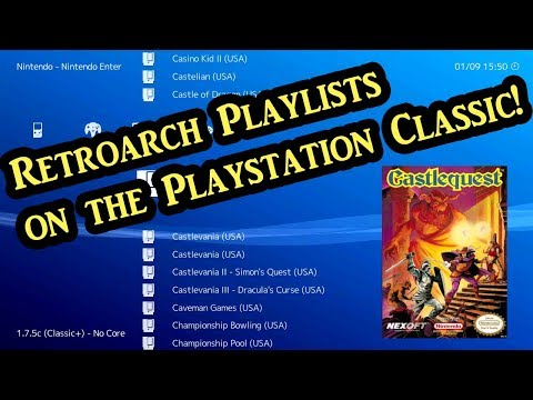 How to create Playlists in Retroarch on the Playstation
