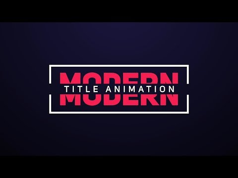 Smooth and Elegant Text Animation in After Effects - After Effects Tutorials