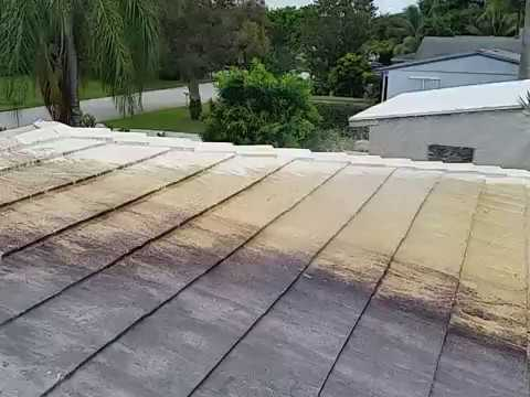 Cleaning tile roof in seconds without high pressure...magic