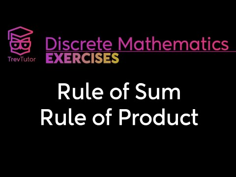 [Discrete Math 1] Rule of Sum and Rule of Product Examples