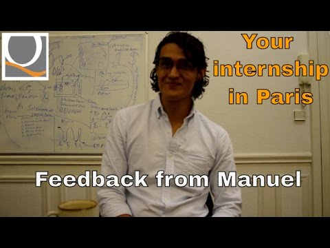 Your internship in Paris! Feedback from Manuel