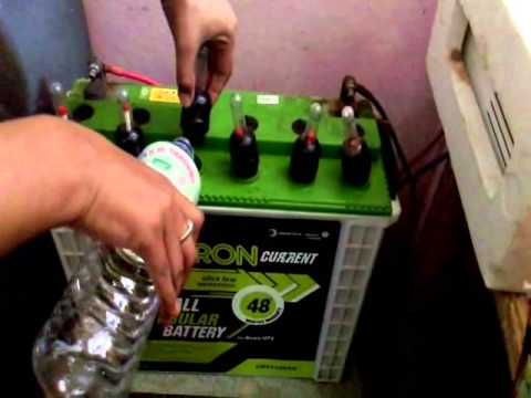 HOW TO FILL BATTERY WATER IN HOME INVERTER/UPS BATTERY (Distilled water filling in Battery)