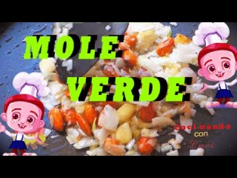 como se hace el mole verde (How to make green mole)