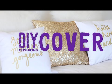 DIY How To Make | Diy cushion cover ideas, diy cushion covers, diy cushion covers no sew