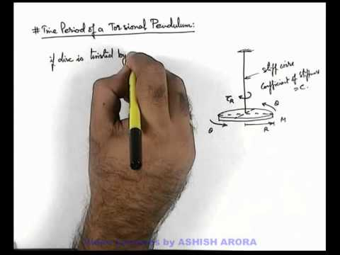 16. Physics | SHM | Time Period of a Torsional Pendulum | by Ashish Arora (GA)