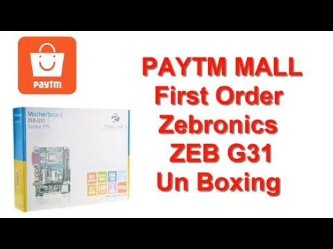 paytm Mall First Order Zebronics ZEB 31 Unboxing