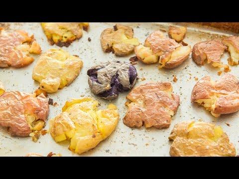 CRISPY SMASHED POTATOES - Easy Thanksgiving Side