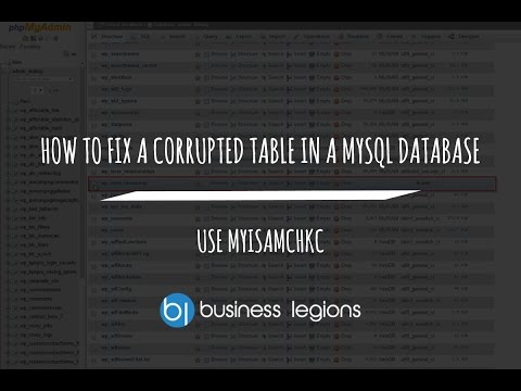 HOW TO FIX A CORRUPTED TABLE IN A MYSQL DATABASE