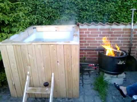 Homemade hot tub