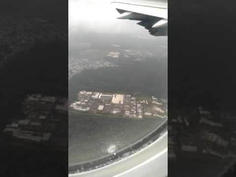 Lufthansa Airbus Landing Frankfurt Wing View