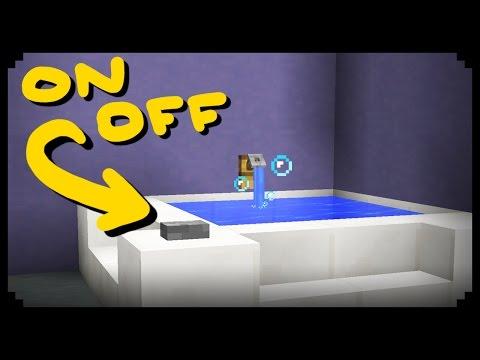 ✔ Minecraft: How to make a Working Bathtub