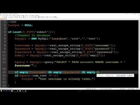 PHP MySQLi Registration Tutorial