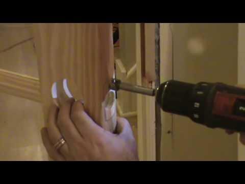 How To Cut A Door Knob Hole In A Slab Door