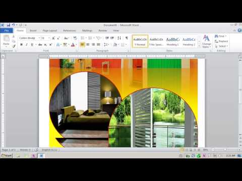 Create Flyer with Word 2010