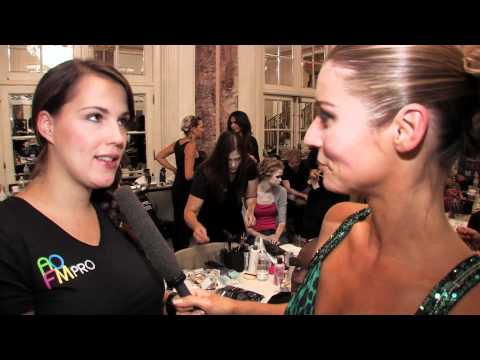 Makeup Courses by AOFM London & New York graduates backstage at Couture Fashion Week NYC