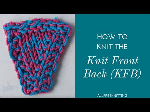 How to Knit a KFB Increase