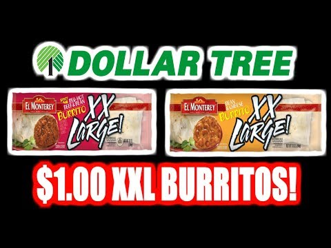 Dollar Tree ONE DOLLAR XXL Burritos! - WHAT ARE WE EATING?? - The Wolfe Pit
