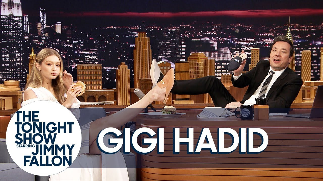Download Gigi Hadid Gives Jimmy the Only Men's Pair of Her EyeLoveMore Mules MP3 Gratis