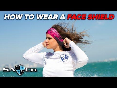 SA Co. | How to wear a Face Shield | SA Fishing TV