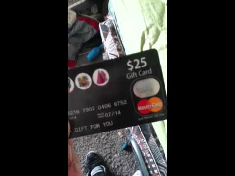 Free gift card $25 MasterCard MUST WATCH!