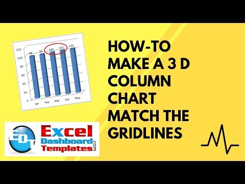 How-to Make a 3 D Column Chart Match the Gridlines in Excel
