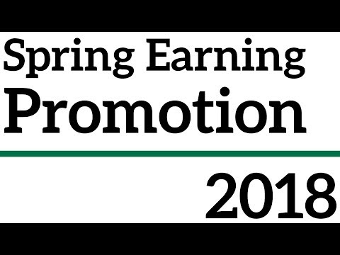 Spring Earning Promotion: 20% Point & Referral Increases
