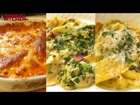 Zucchini Spaghetti Pasta | 3 Different Ways | Keto Recipes | Headbanger's Kitchen
