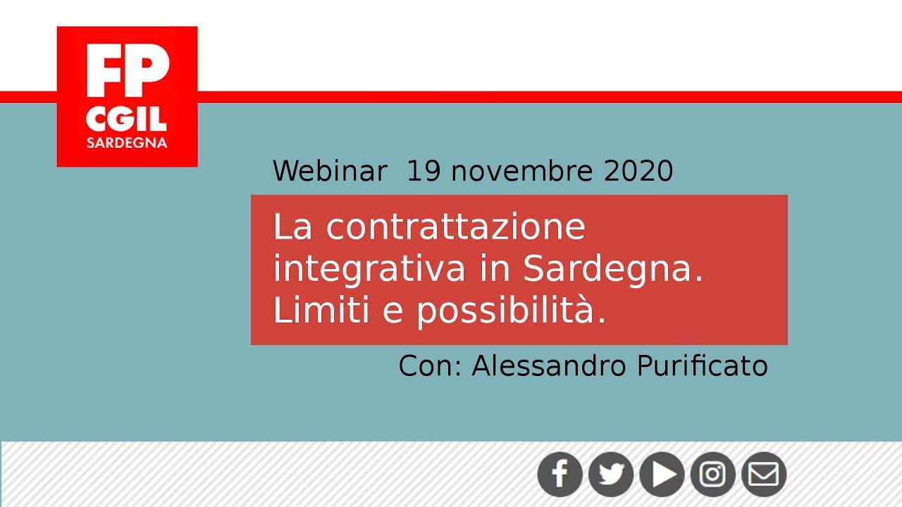 La contrattazione integrativa in Sardegna. Limiti e Possibilità