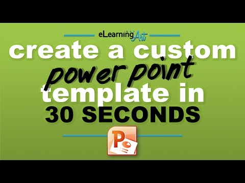 Create a custom PowerPoint template in 30 seconds