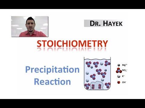 Stoichiometry of a Precipitation Reaction.