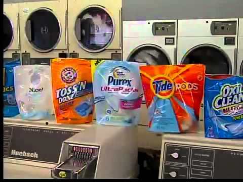 Laundry detergent pacs and pods leave behind residue