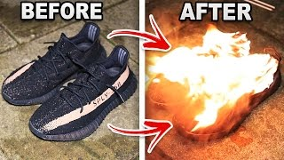 MUM BURNED MY £1,000 YEEZYS PRANK!!! *GONE WRONG!*😱🔥(ALMOST DIED!)