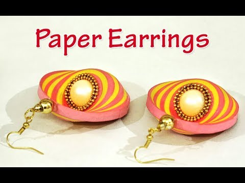 PAPER EARRINGS | How to Make Beautiful Quilling Paper Earring Designs | Paper Jewelry Making