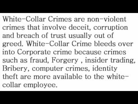 White-Collar Crimes - What is the Definition? - Financial Dictionary by Subjectmoney.com