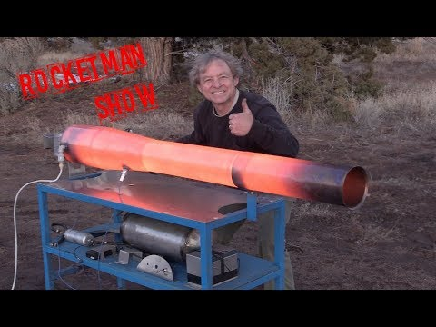 Rocket Man building the BIG 50 pound thrust Cyclone 50 Pulsejet!