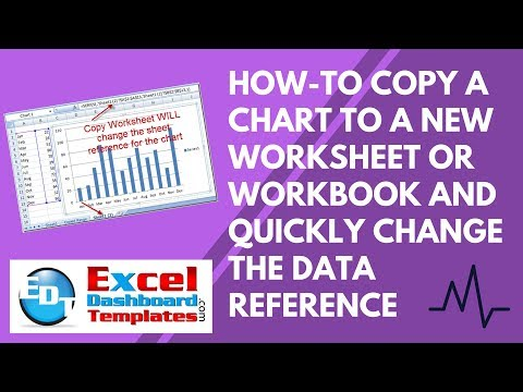How-to Copy an Excel Chart to a New Worksheet or Workbook and Quickly Change the Data Reference