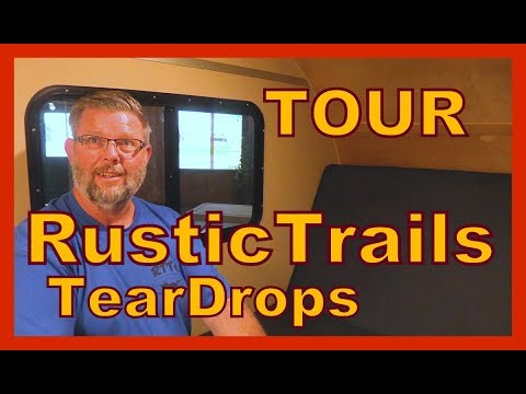 Rustic Trail STAND-UP Teardrop Campers Tours