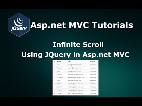 Infinite Scrolling Using JQuery Ajax in Asp.net MVC