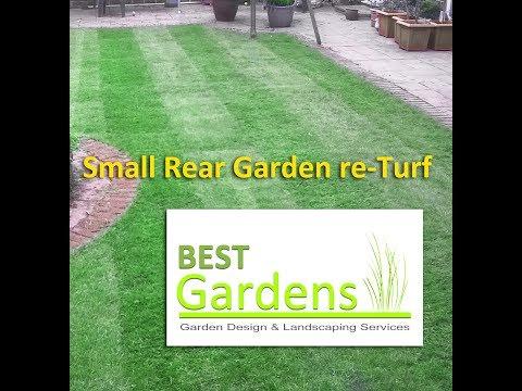 Small Rear Garden re-Turf