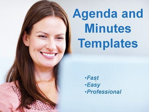 agenda and meeting minutes templates