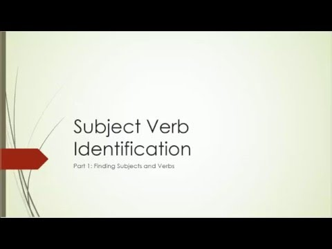 Unit1-Part1-Finding Subjects and Verbs