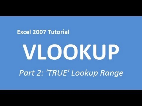 Excel 2007 Tutorial VLOOKUP (Part 2: